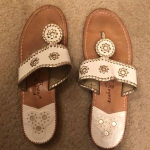 White/gold jack Rogers